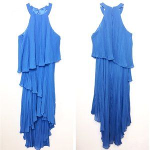 Laundry by Shelli Segal Pleated Tiered Midi Dress